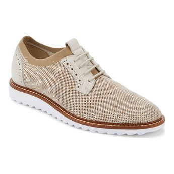 Men's G.H. Bass & Co. Buck 2 Plain Toe Oxford - Oatmeal Marbled Knit/Nubuck Oxfords