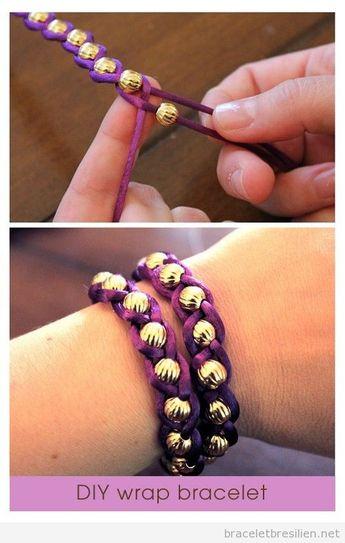 Tutoriel pas à pas pour réaliser un bracelet DIY avec fil queue de rat et perles