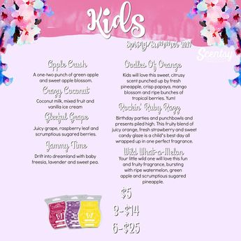 "Scentsy's ""kids"" Scents for spring and summer 2017 #wickless #candles #scentsbykris"