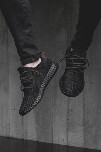Mens size Adidas Yeezy Boost 350 Pirate Black fake sneakers