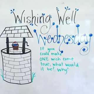Ready for Wishing Well Wednesday!! #MorningMeetingMessage