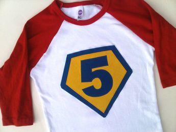 Children Costume Superhero Birthday Shirt Boys Girls Tshirt For Cape Party