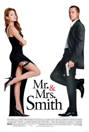 "Mr. & Mrs. Smith (2005) Movie Poster New 24""x36"" Brad Pitt, Angelina Jolie"