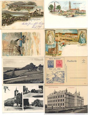 Picture postcards before 1945 lot from probably over 6000 piece, simple goods however by 10 cent apiece very favorable starting price!