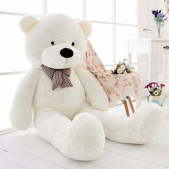 """47"""" GIANT White Teddy Bear Stuffed Animal Huge Soft Plush Cute Toy Birthday Gift Summary Size: 120cm from head to toe. Material: Soft plush cover with... #plush #soft #cute #birthday #gift #huge #animal #white #teddy #bear #stuffed #giant"""