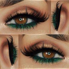 Maquillage pour les yeux bruns