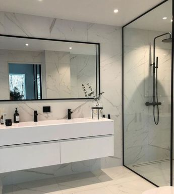 Modern Scandinavian Bathroom Interior In White