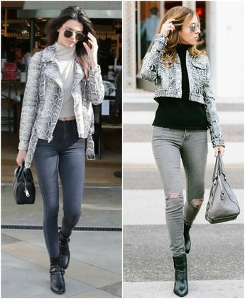 how to wear a snakeskin jacket - Sydne Style  Inspired By: Kendall Jenner's Snakeskin Jacket