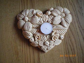 Candlestick carved salt dough