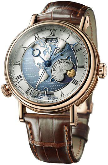 Breguet Classique Hora Mundi Automatic Silver Dial Men's Watch