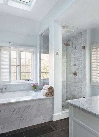 48 Simple Master Bathroom Renovation Ideas