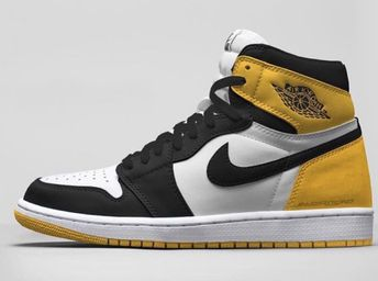 "online store b4210 ff3e8 Air Jordan 1 Retro High OG ""Yellow Ochre"""