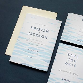 Clear Blue - Invitations