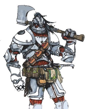 Case Whitehide Warforged By Longeye On Deviantart