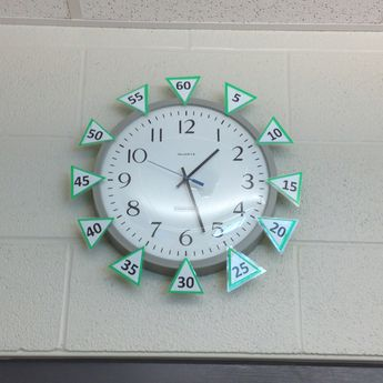 standard clock with minutes around outside