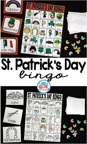 Bingo Sheets for St. Patrick's Day -