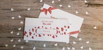 Carte pochette cadeau détachable de saint Valentin pour cadeau | Etsy