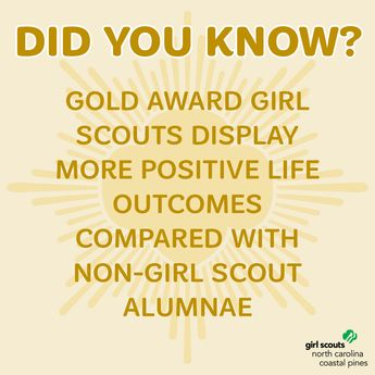 These positive outcomes pertain to sense of self, life satisfaction, leadership, community service, and civic engagement. Gold Award recipients are also more ambitious and place a greater emphasis on a successful career and having financial security.