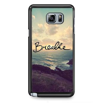 Breathe TATUM-2092 Samsung Phonecase Cover Samsung Galaxy Note 2 Note 3 Note 4 Note 5 Note Edge