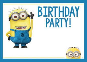 despicable me minion party invitation printable 6x4 inches