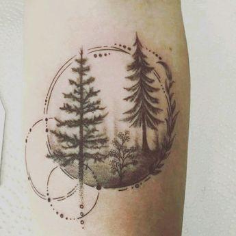 Tree Tattoo - #blackwork #forearm #forest #forestattoo #fineline