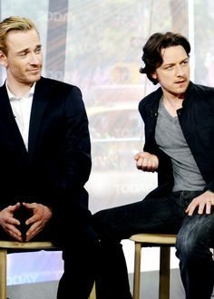 James McAvoy and Michael Fassbender. The expressions on their faces....