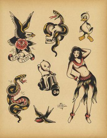 95ffcf964 Possible Floyd Samson vintage carny tattoo flash