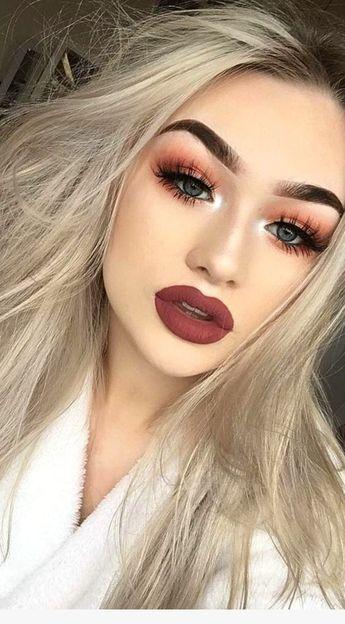 💖Girl ce smokey orange 😍 ! Vous voulez également achevez un beau make-up