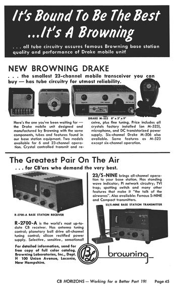 May 1963 Browning Ad