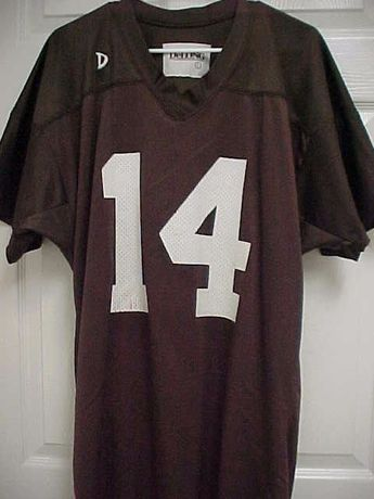 f278f2bb0 CLEVELAND BROWNS 100% Nylon  14 Football Jersey L DeLong  DeLong   ClevelandBrowns