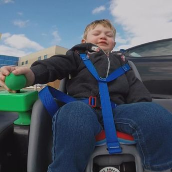 Video: High school robotics team builds wheelchair for 2-year-old — NBC News