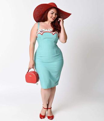 1950s Plus Size Dresses, Clothing