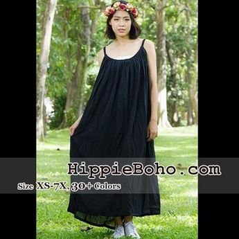 21c196ea387 No.164- Size XS-7X Hippie Boho Clothing Gypsy Black Maxi Plus Size
