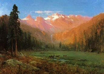 View Of Cascade Lake Near Tahoe 1874 Art Print by Hill Thomas