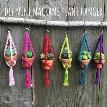 DIY Macrame Mini Plant Hanger Pattern, PDF Instructions, Learn to Macrame, Fun Cute Gift Idea, Beginner Macrame, Wine and Craft Night