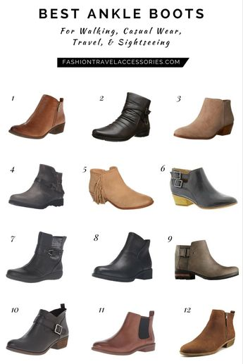 Best Ankle Boots For Walking, Casual Wear, Travel, & Sightseeing