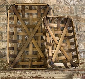 Small Tobacco Baskets, Set of 2