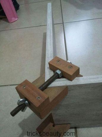 Gewöhnliche Eckspangen #Woodworking tools, #clatches #drawn #woodworki