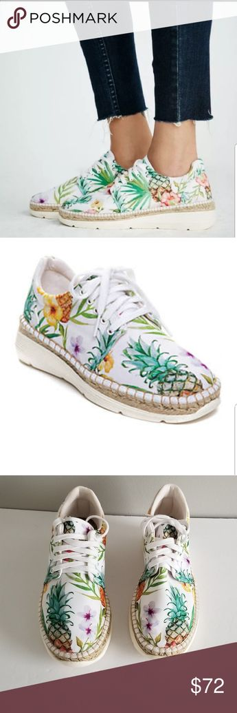 927832ce8e Free People Womens Jackson Espadrille Sneak 38 New Free People Womens  Jackson Floral Espadrille Sneakers White
