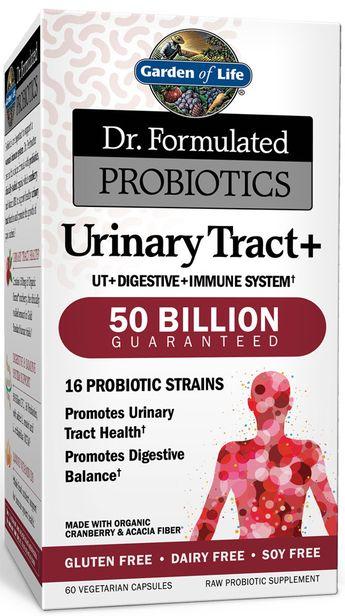 Garden of Life Dr. Formulated Probiotics Urinary Tract + -- 50 billion - 60 Vegetarian Capsules