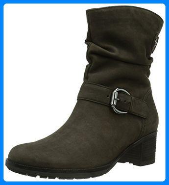 Damen Schuhe Stiefeletten Stretch Boots Grau 39 Stiefel f