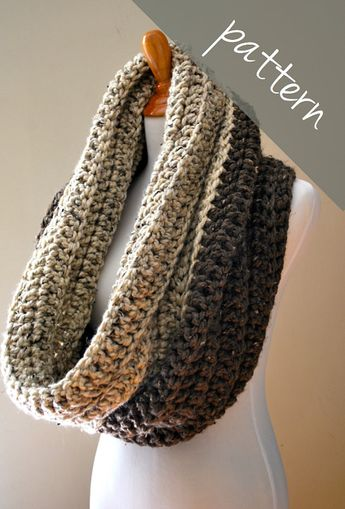 Crochet Pattern Oversized Infinity Scarf Pattern Hooded C