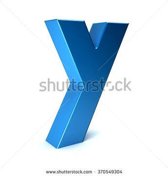 Y Letter 3D style - stock photo