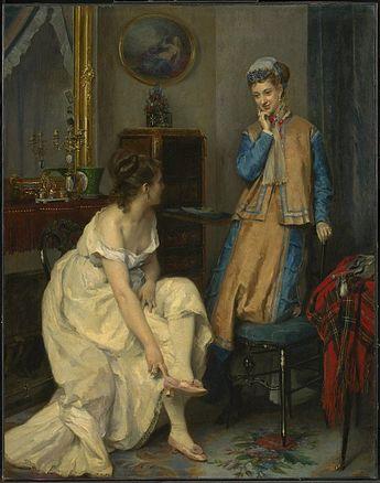 """""""Confidences"""", Raimundo de Madrazo y Garreta, ca. 1869; CAI 1955.798"""