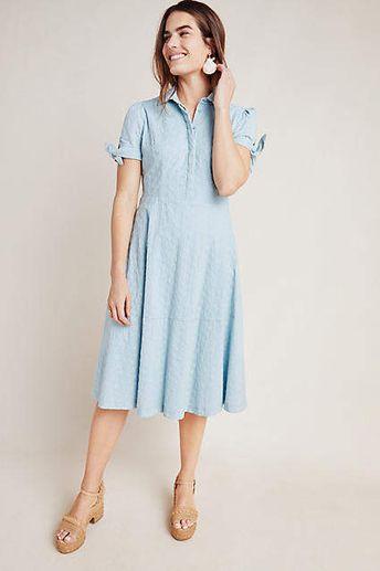 Gal Meets Glam Judith Eyelet Midi Dress