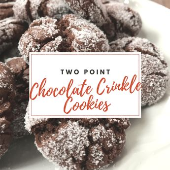 Easy Two Point Chocolate Crinkle Cookies - Pound Dropper