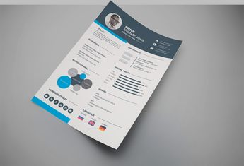 Stylish Professional Resume Design Template - Graphic Templates