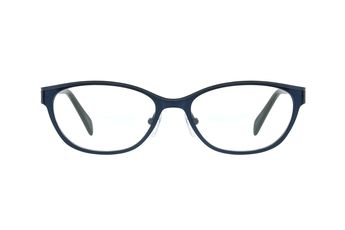 98b4ff3c96a Zenni Womens Cat-Eye Prescription Eyeglasses Blue Stainless Steel 798016