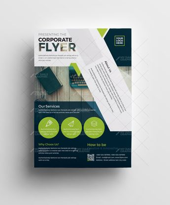 Corporate Flyer with Alternate Version - Graphic Design Templates