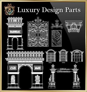 CAD Library-AutoCAD Blocks & Drawings : ☆【Decoration Elemen